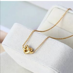 Kate Spade love me knot gold necklace